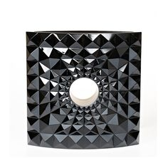 GEO VASE / ART EDITION LIMITED EDITION (8 PIECES), BLACK CRYSTAL, LOST WAX