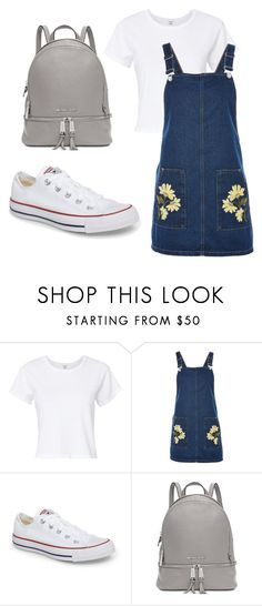 """Sem título #4"" by duda-souzaptu on Polyvore featuring moda, RE/DONE, Topshop, Converse e Michael Kors"