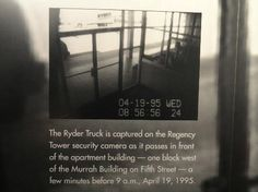 The Ryder truck captured on surveillance camera. oklahoma city national memorial and museum