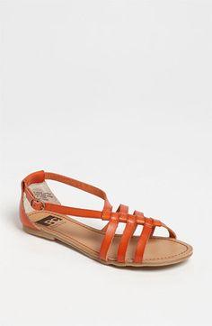 Cute orange sandals.