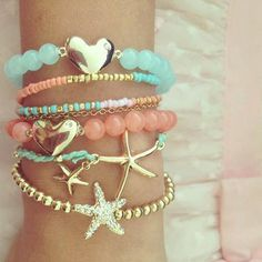 Okay this is girly and cute but also has the sea things that remind me of percy jackson, I need this!