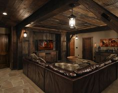Lower Level | Lake Country Builders r/b remove lounges insert pool tables. Holy Cow this is an awesome basement
