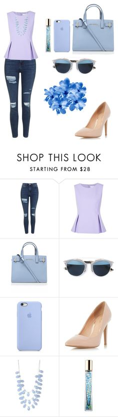 """"""""""" by annaluisasouza708 ❤ liked on Polyvore featuring Topshop, Diane Von Furstenberg, Kurt Geiger, Christian Dior, Dorothy Perkins, INC International Concepts and AERIN"""