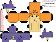 Image detail for -scooby doo daphne cube craft printable