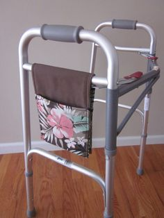 Walker bag mini is the perfect compliment to any walker, rolling walker, or hemi-walker for those who travel light. Can also be used to hang from