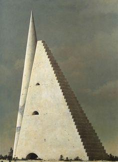 Minoru Nomata, arquitectónico misterio pintor