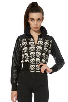 Skull Candy Bomber Jacket - Price: £29.99