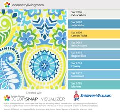 Colors to match OC condo living room drapes fabric . Also Byte Blue