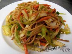 Érdekel a receptje? Kattints a képre! Wok, Spaghetti, Pizza, Ethnic Recipes, Woks, Noodle