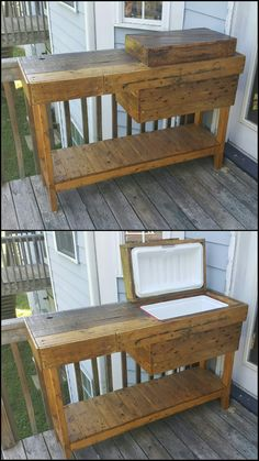 Outdoor pallet bbq drinks station projects в 2019 г. Building Furniture, Pallet Furniture, Furniture Projects, Home Projects, Pallet Projects, Wood Grill, Bbq Grill, Outdoor Kitchen Bars, Backyard Kitchen