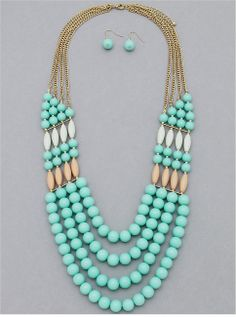 Strands of Elegance Necklace & Earring Set from P.S. I Love You More Boutique. Shop: www.psiloveyoumoreboutique.com
