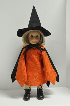 American Girl Doll Clothes Witch Halloween by CircleCSewing, $16.50