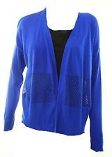Vince Camuto NEW Blue Women's Large L Mesh Panel Rib-Knit Cardigan Sweater $89 | http://www.cbuystore.com/page/viewProduct/9981450