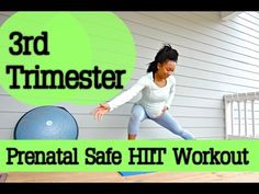 20 MIN--3rd Trimester SAFE HIIT Workout! (NEW EXERCISES!) - YouTube