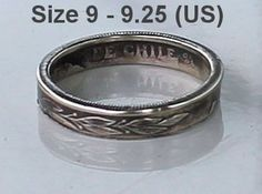 Republic of Chile 1 PESO yr. 1975 Coin Ring by CraftsByJoel