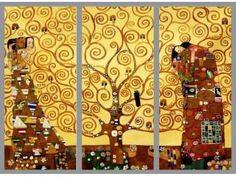 Gustav Klimt - Tree of Life (Drzewo życia) - TRYPTYK
