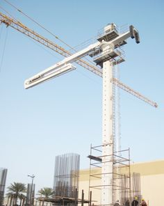 High Quality #Concrete #Placing #Boom,Inner climbing concrete placing boom shows its advantages in the construction of high-rise building.