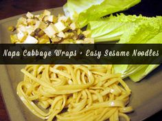 Napa cabbage wraps are a fun spin on more common lettuce wraps. Like lettuce, Napa cabbage is light and crunchy. It has a slightly bitter taste that's great with this slightly sweet filling. Serve up your wraps with a side of quick sesame noodles, and you've got yourself an easy, healthy meal, my friends!