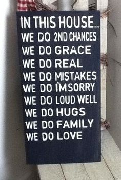 In This House - We Do 2nd Chances - We Do Real- Family Rules Sign - We Do House Rules sign by madge