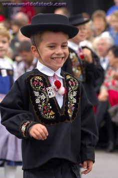 Boy in Swiss traditional costume