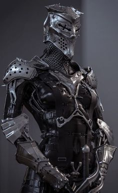 "cyberclays: "" A non-historical fencer - by Vitaly Bulgarov ""Just having some fun mixing together medieval elements I designed for www.store and sci-fi elements I did for my Ultraborg. Armadura Medieval, Female Armor, Female Knight, Armor Concept, Concept Art, Zbrush, Hawke Dragon Age, Armadura Cosplay, Futuristic Armour"