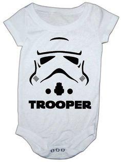 Storm Trooper Inspired baby onesie by LuluBellababyTrends on Etsy, $21.99
