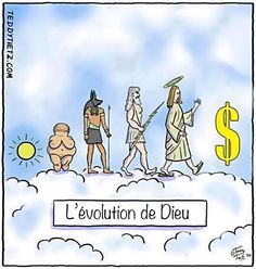 """Today is Charles Darwin's birthday. In the author was born, and in he published his groundbreaking book, """"On The Origin Of Species."""" In honor of his birthday, we're sharing a handful of satirical cartoons Charles Darwin, Satire, Evolution Cartoon, Darwin Evolution, Funny Cartoons, Funny Memes, Jean Anouilh, Meaningful Pictures, Satirical Illustrations"""