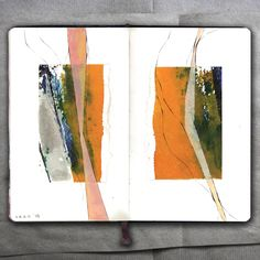 Two Portrait of a River _ Collage, 2015 _Mariasun Salgado Artist Sketchbook, Guache, Sketchbook Inspiration, Abstract Watercolor, Colorful Abstract Art, Collage Art, Art Inspo, Painting & Drawing, Art Drawings