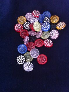 Blink Blink Rainbow Rhinestone Plastic Buttons / Sewing supplies / DIY craft supplies / Novelty Buttons / Party Supplies - pinned by pin4etsy.com