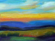 Step 2: Landscape made abstract. Art Talk - Julie Ford Oliver