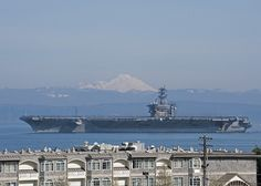 USS Nimitz gets underway. by Official U.S. Navy Imagery, via Flickr