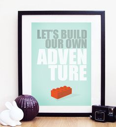 "Lego ""Let's Build Our Own Adventure"" Poster Print A3 / 11x14"