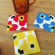 Marimekko coasters perler beads by a.ai44
