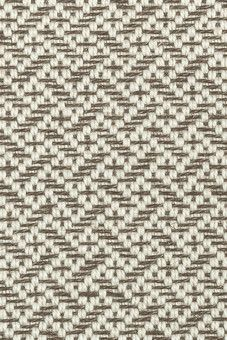 Merida Tweed in Grey Fleck colorway (65% wool and 35% sisal) - 12x12 rug with metallic binding