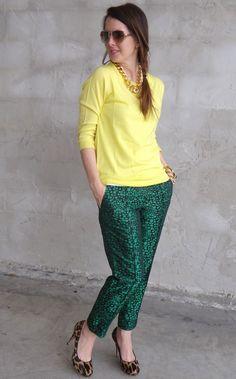 My Fancy Pants...citrus colors