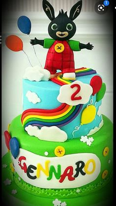 Bing Cake, Evie, Bingo, Birthdays, Birthday Cake, Desserts, Tailgate Desserts, Birthday, Birthday Cakes