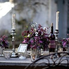 Stunning Vintage table setting for an outdoor wedding