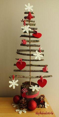 TUTO DIY Faire un sapin #2 – sapin récup – structure inspiration nature (Make a DIY TUTORIAL # 2 fir - tree Recycling - structure inspiration nature)