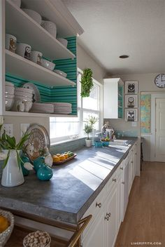 My Kitchen in Scandinavian Style - Lia Griffith I love this concrete counter top