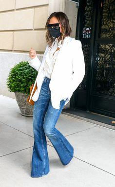 Viktoria Beckham, Victoria Beckham Jeans, Katie Holmes, Spice Girls, Stilettos, Rolled Up Jeans, Bikini Outfits, Denim Trends, Best Jeans