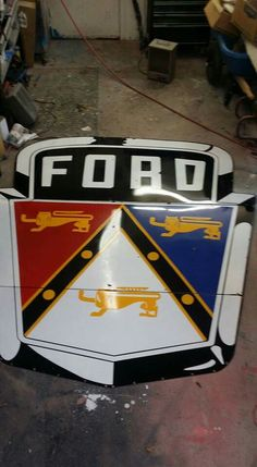 Rare Porcelain Ford Sign