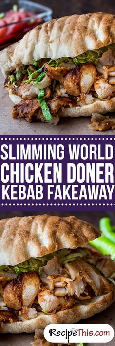 Welcome to my Slimming World Chicken Doner Kebab Fakeaway night in. A delicious homemade chicken doner kebab meal with lots Slimming World Fakeaway, Slimming World Dinners, Slimming World Chicken Recipes, Slimming World Recipes Syn Free, Slimming World Diet, Slimming Eats, Chicken Doner, Chicken Kebab, Baked Chicken
