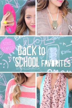 UPDATED: New Tutorial: My Back to School Favorites