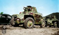 Csaba armoured scout car produced for the Royal Hungarian Army during World War II. Tank Armor, Italian Army, War Thunder, Tiger Tank, War Dogs, Armored Fighting Vehicle, Ww2 Tanks, Military Diorama, World Of Tanks