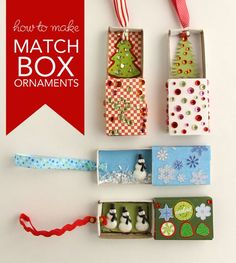 Want To Make Some Quick And Ridiculously Cute Ornaments With Your Kids Try Making Matchbox Augie My Five Year Old I Made Eight Of These