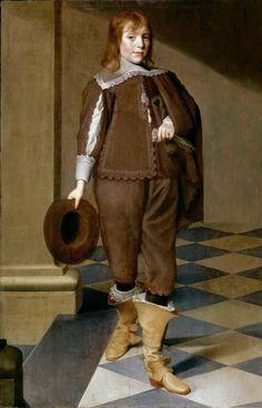 Wybrand Simonsz. De Geest, the Elder -- Portrait of a 12-Year-Old Boy