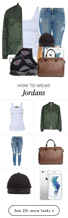 """Wasted - Travis Scott"" by teci on Polyvore featuring Tusnelda Bloch, Acne Studios, Frame Denim, Retrò and Louis Vuitton"
