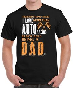 Auto Racing Dad NASCAR Formula 1 Drag Racing Birthday Fathers Day Gifts Men's T-Shirt