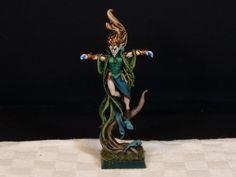 Warhammer Wood elves spellcaster, Miniature painted by me! Sirio ;)