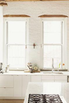 Williamsburg Loft White Kitchen by Elizabeth Roberts | Remodelista